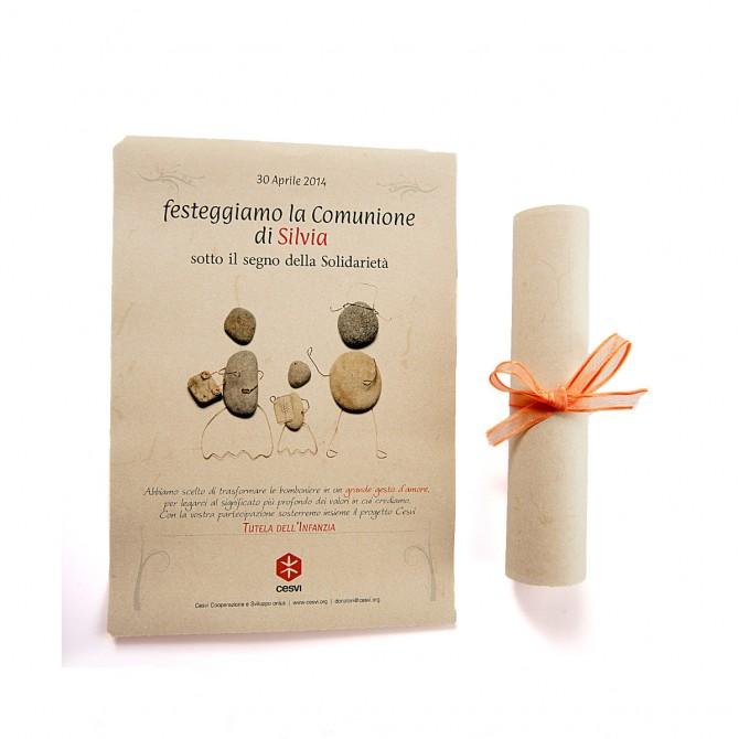 Pergamena comunione sassolino
