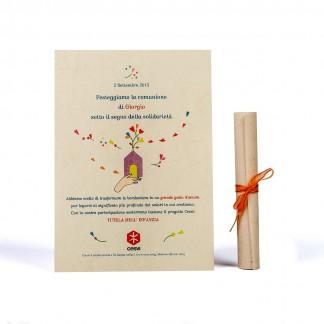 Pergamena comunione casetta