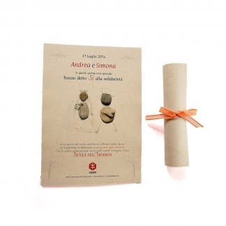 Pergamena Nozze sassolino