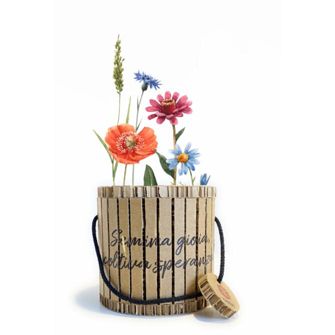 coprivaso ecologico con fiori