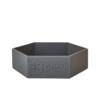 vaschetta portaoggetti grigio
